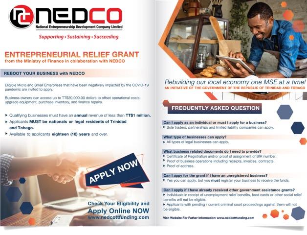NEDCO grant relief