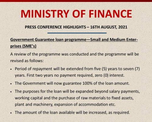 Highlights from the Ministry of Finance's Press Conference